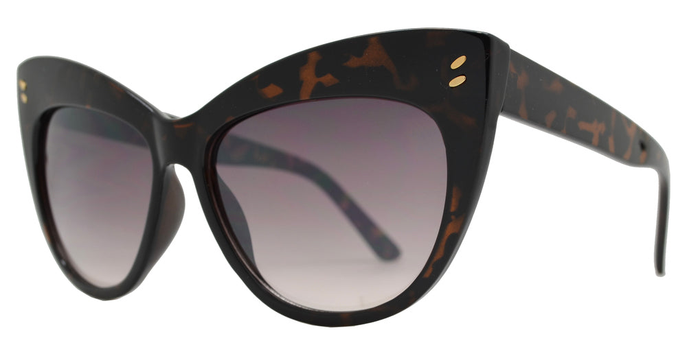 Wholesale - FC 6406 - Vintage Flared Cat Eye Women Plastic Sunglasses - Dynasol Eyewear