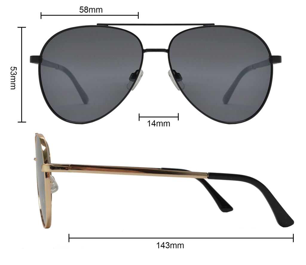 FC 6514 - Thick Frame Oval Shaped Sunglasses