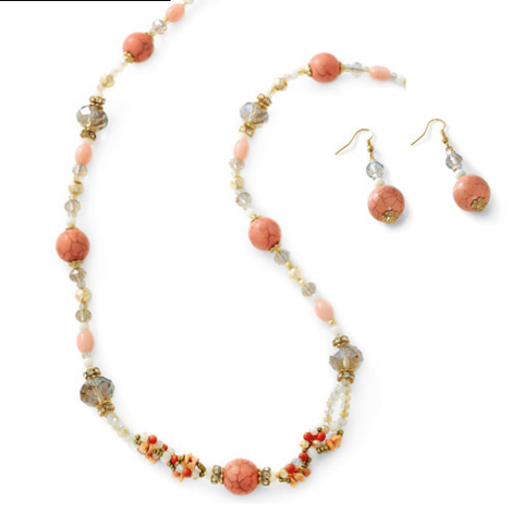 24ct gold plated peach sets. - Honey UK Jewellery and Accessories