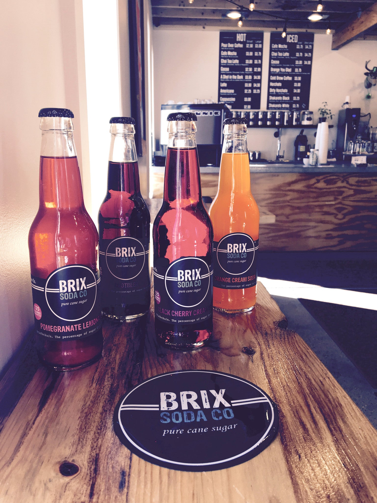 Brix Soda now at the Coffee Shop!