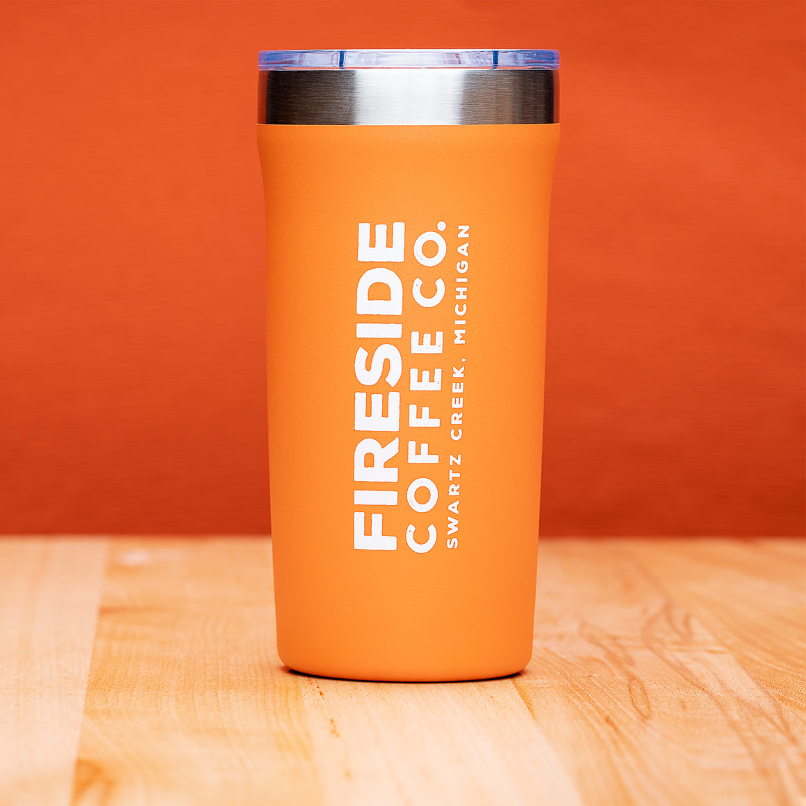 Orange Travel Mug