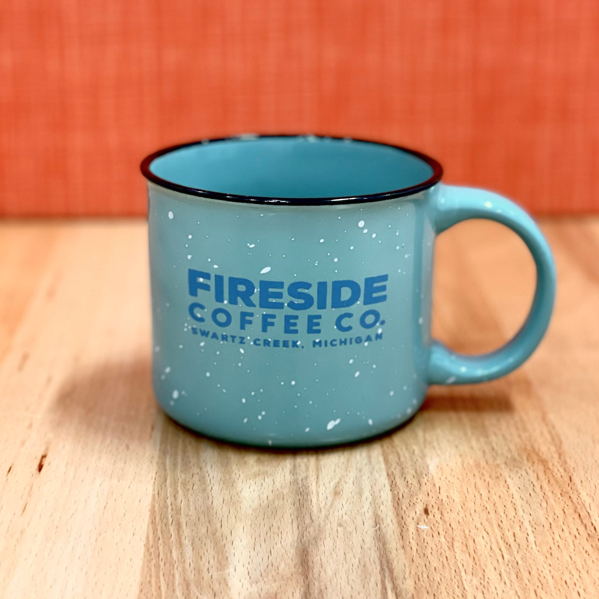 Teal Speckled Campfire Mug