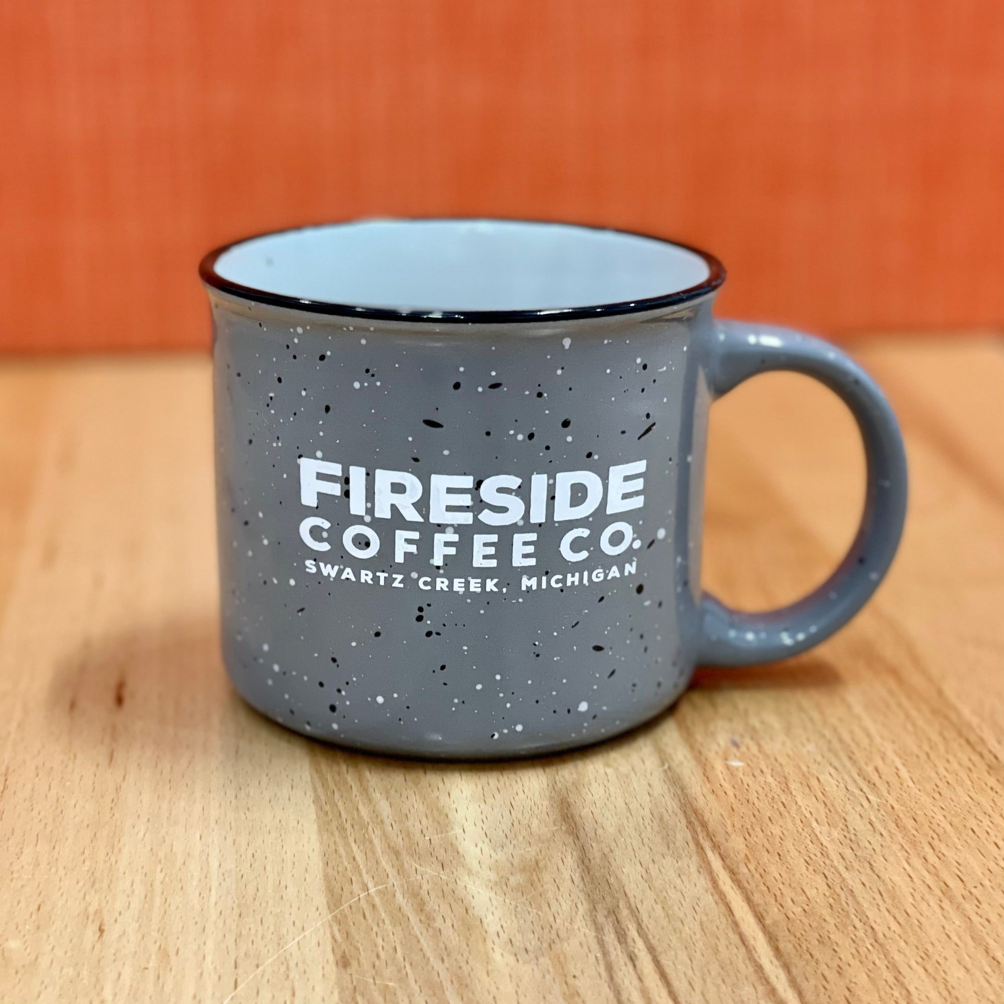 Gray Speckled Campfire Mug