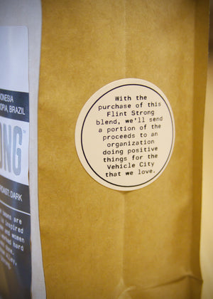 Flint Strong Coffee side Close Up