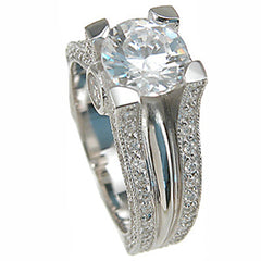 Solitaire CZ Engagement Rings