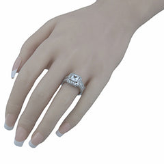 Halo Cubic Zirconia Engagement Ring