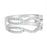 Wedding Band Guard Wrap for Women Engagement Ring Sterling Silver