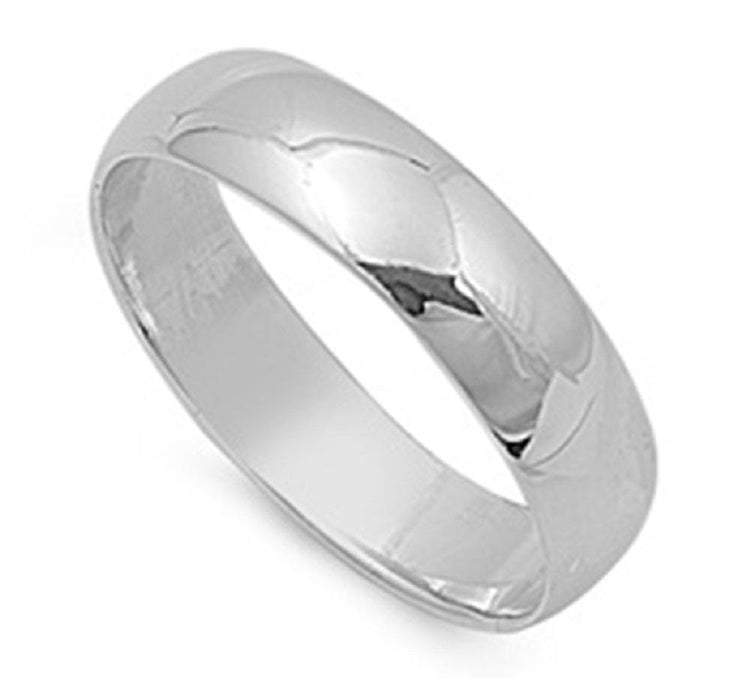 Silver Wedding Rings for Men Women