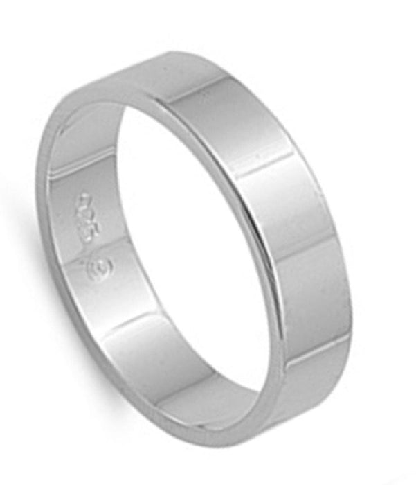 Mens Womens Sterling Silver Wedding Band