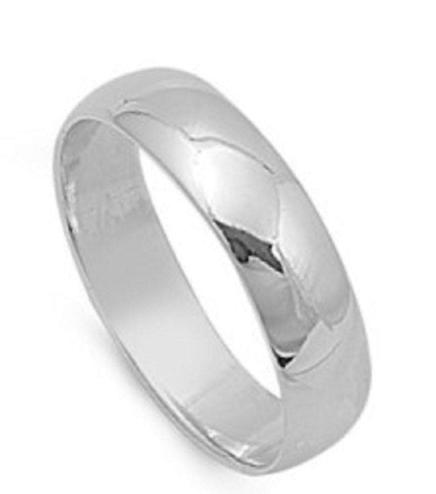 Trio His and Her (3 Stone Design) Wedding Rings Set Sterling Silver Wedding Bands