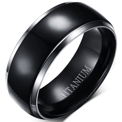 Black Titanium Wedding Ring Band