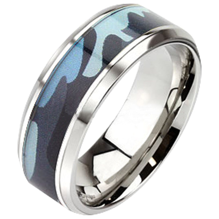 Womens Camo Wedding Band