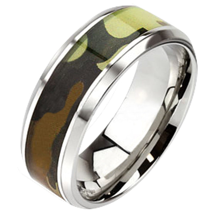 Camo Camoflauge Wedding Bands Him Her