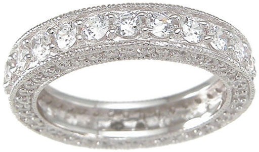 CZ Wedding Band Eternity Anniversary Ring for Women - LaRaso & Co - 1