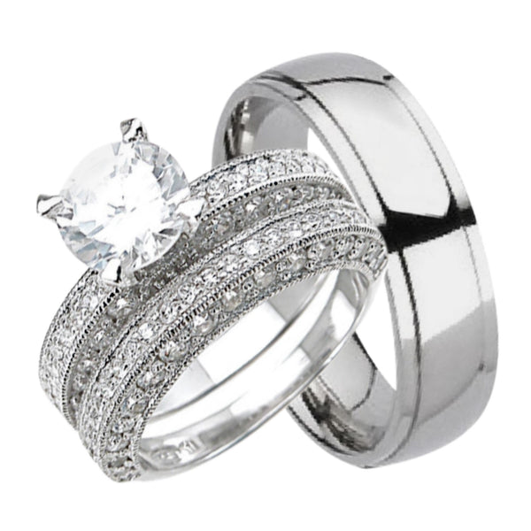 His and Hers Wedding Ring Sets LaRaso Co