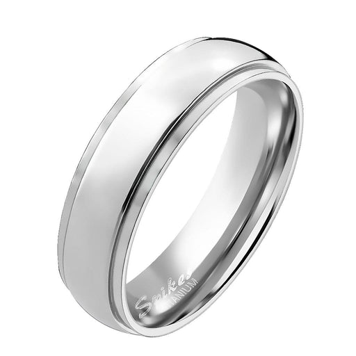 Plain Titanium Wedding Ring Band