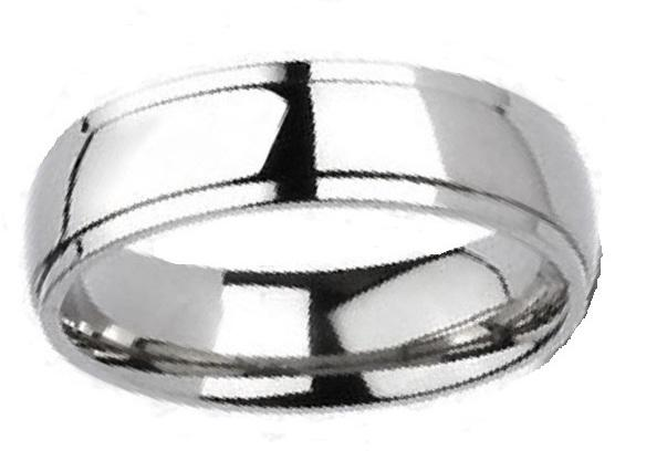 His and Hers Wedding Rings - HERS - Sterling Silver - HIS - Titanium