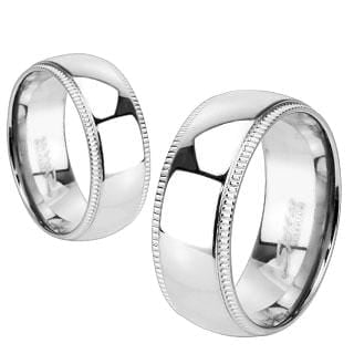 His and Hers Titanium Wedding Rings