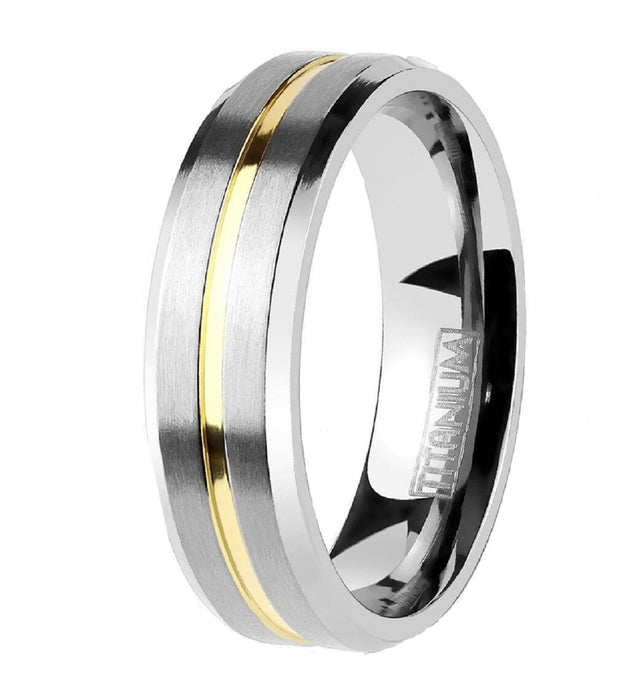 His Hers Wedding Rings TITANIUM Wedding Bands for Him Her