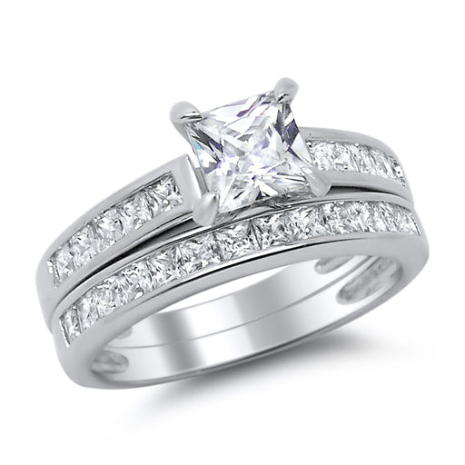 Half Size CZ Engagement Rings