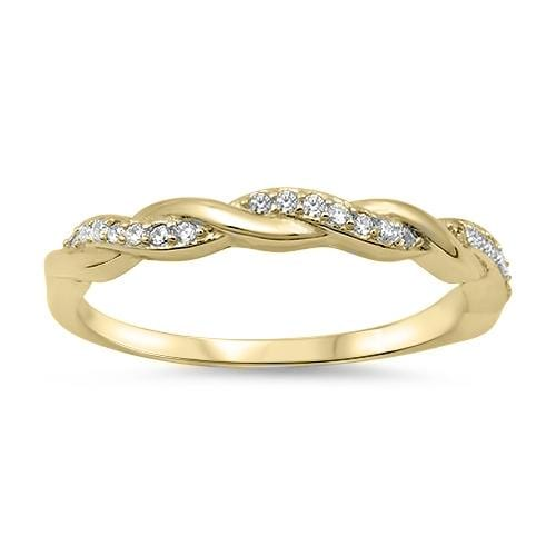 His and Hers 14K Gold Plated His Hers Wedding Ring Set