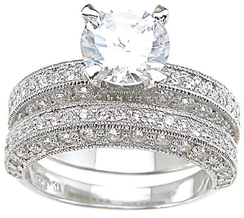 His Hers Wedding Ring Set Vintage Style Looks Real - Not Cheap
