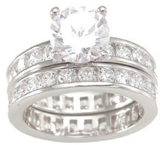 Realistic CZ Engagement Wedding Rings
