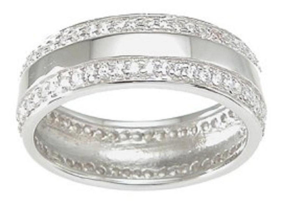His and Her Wedding Rings Set Sterling Silver Wedding Bands for Him and Her