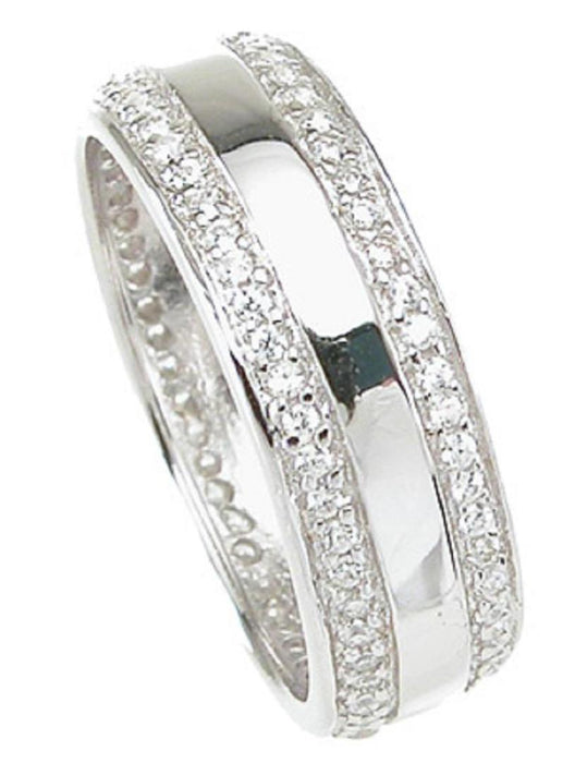 His and Hers Wedding Rings BOTH STERLING SILVER Wedding Bands HIM and HER