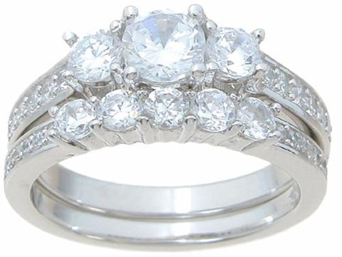 believable cz wedding ring set looks real not cheap - Cheap Wedding Ring