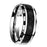 His and Hers Wedding Bands Black STAINLESS STEEL Rings Him and Her