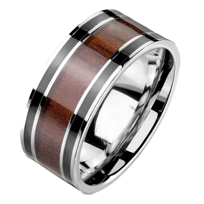 His and Hers Wedding Bands  STAINLESS STEEL Rings Him and Her