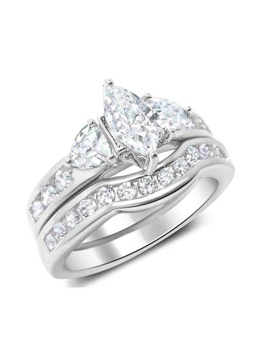 His Hers Wedding Ring Set Marquis Engagement Couples Promise Rings Her 7 Him 10