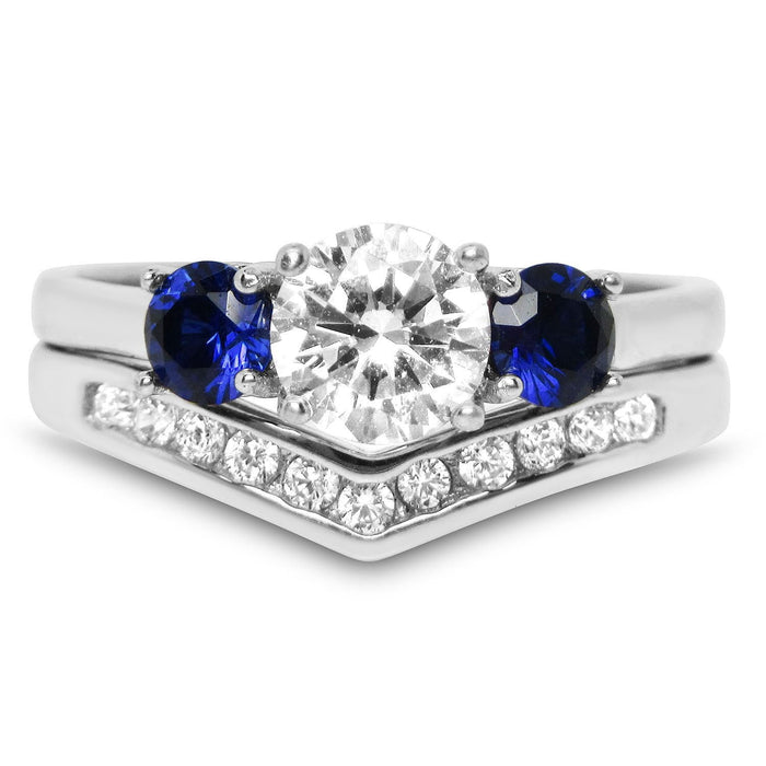 Realistic CZ Wedding Ring Sets for Women