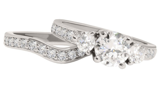 CZ Wedding Rings Set for Women