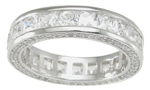 CZ Wedding Band Eternity Anniversary Ring for Women