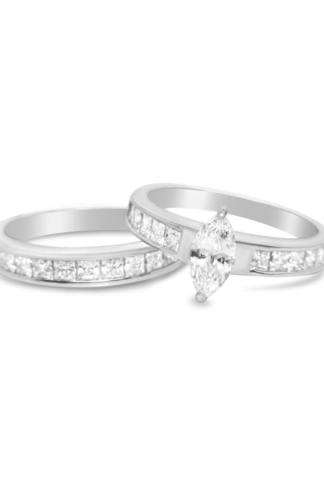 His Hers Wedding Rings Set affordable Matching Wedding Bands for Him Size 8 and Her Size 7