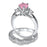 cubic zirconia sterling silver wedding set