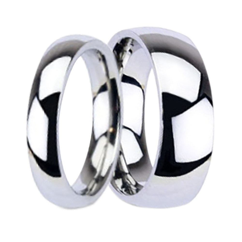 It is just an image of His and Hers TITANIUM Wedding Rings Matching Bands