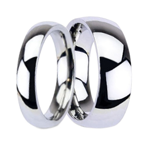 Affordable His and Hers Titanium Wedding Rings Matching Bands