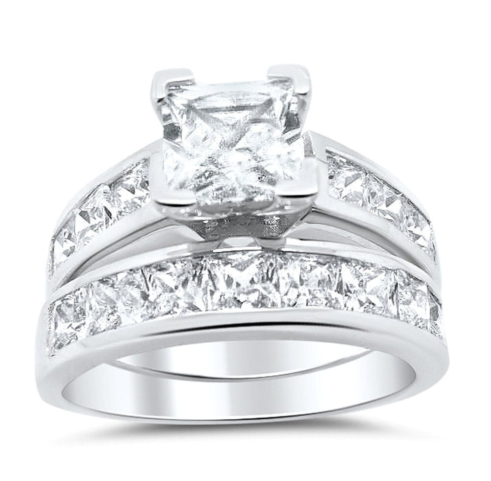 Princess Cut CZ Bridal Ring Set