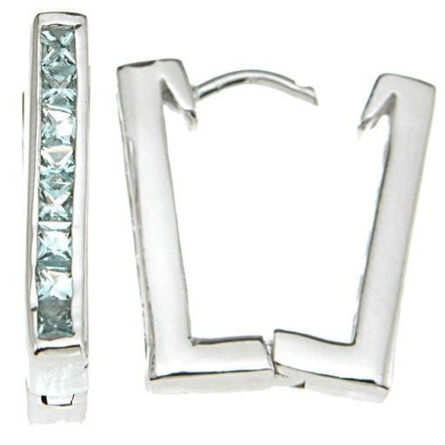 925 Sterling Silver Rhodium Finish Huggies Earrings - LaRaso & Co