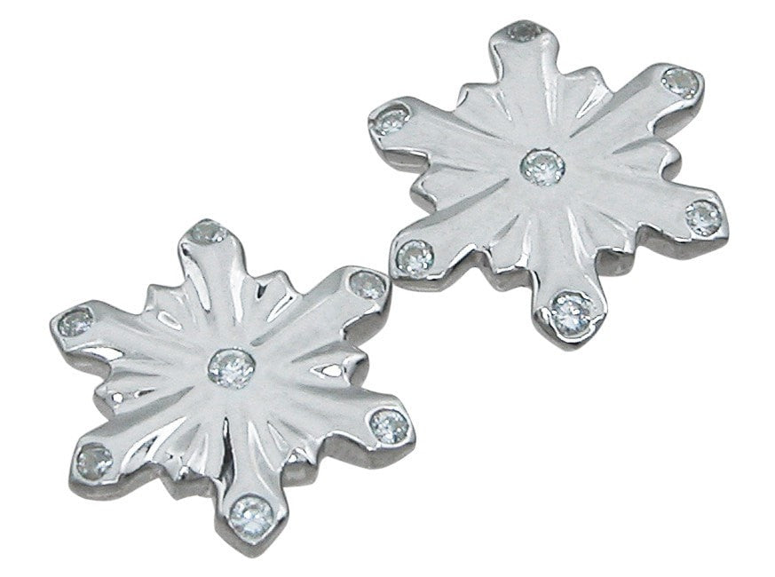 Sterling Silver snow flake earrings - LaRaso & Co