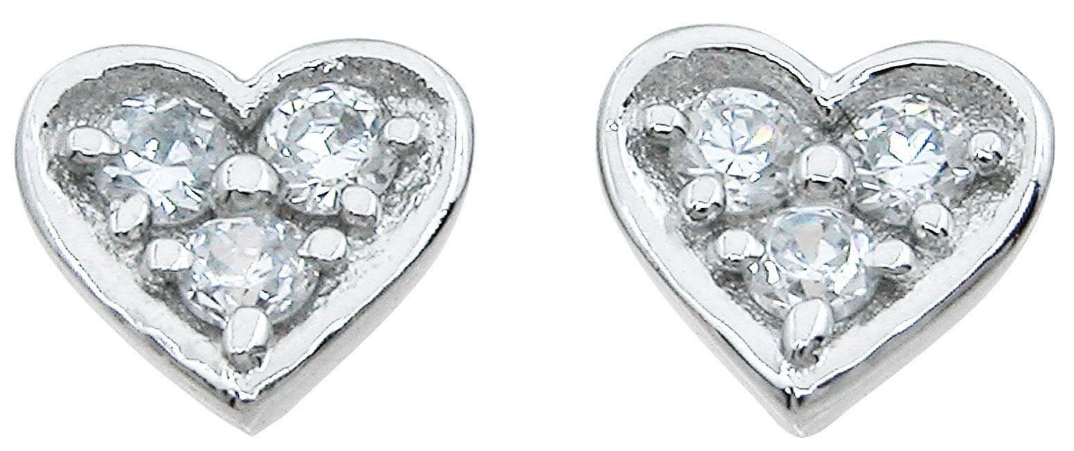 Sterling Silver stud heart earrings - LaRaso & Co