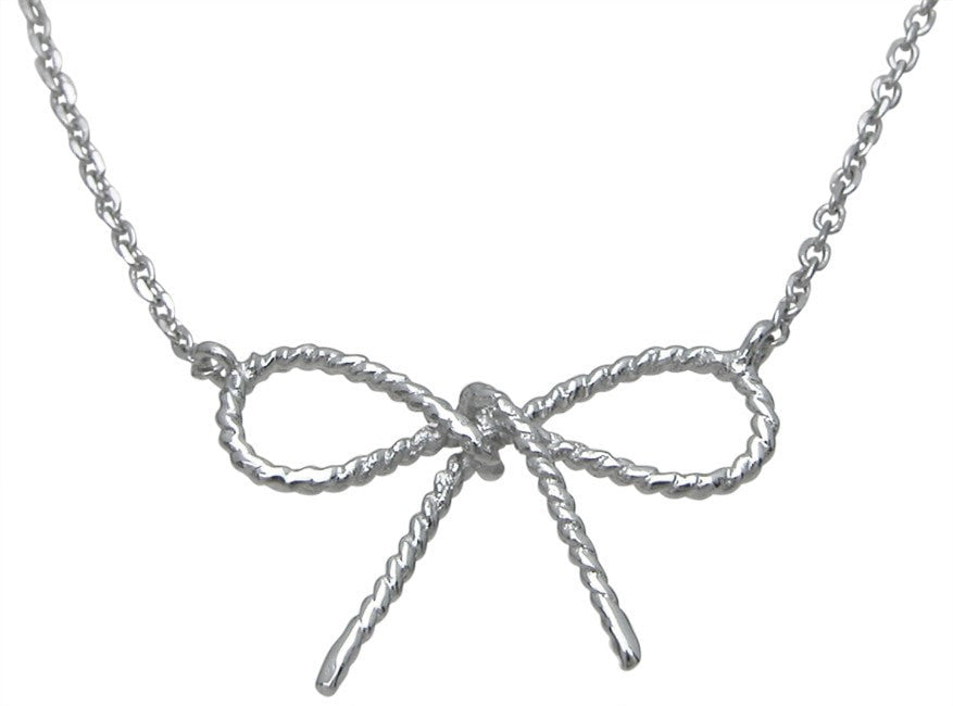 Sterling Silver bow tie necklace - LaRaso & Co