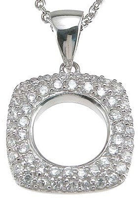 925 Sterling Silver  CZ Fashion Pave Pendant - LaRaso & Co