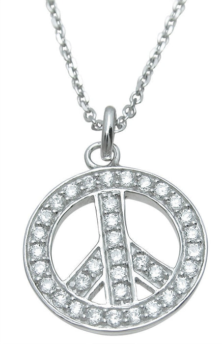 Sterling Silver peace sign pendant - LaRaso & Co