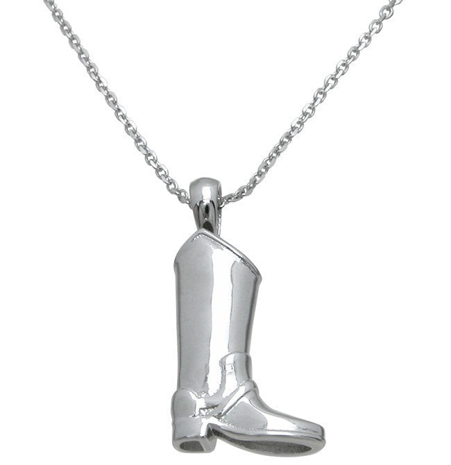 Sterling Silver boot pendant - LaRaso & Co