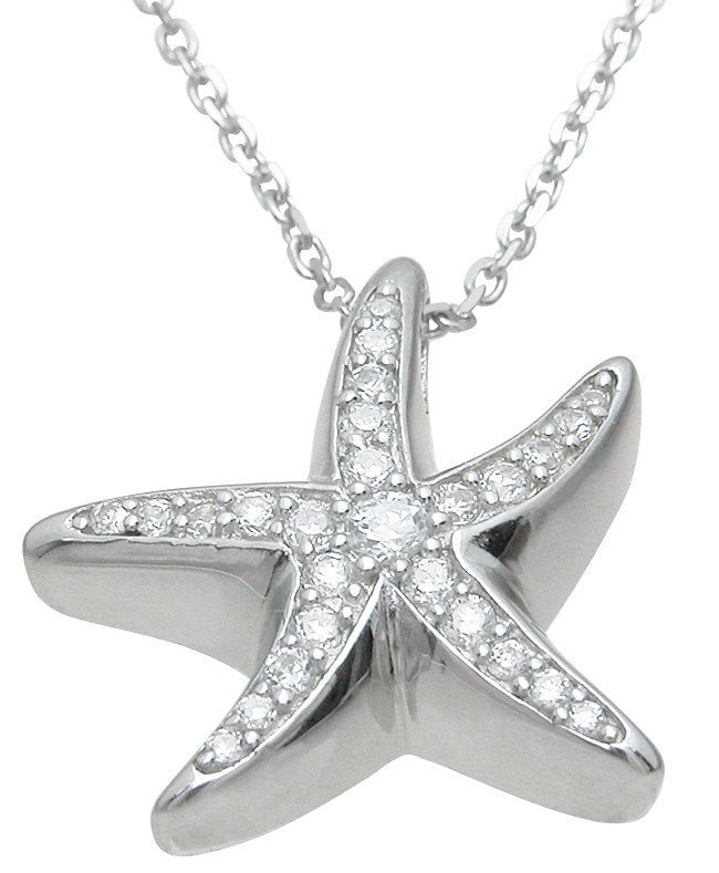Sterling Silver star fish pendant - LaRaso & Co