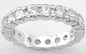 Cubic Zirconia Brilliant Fashion Wedding Band - LaRaso & Co - 1